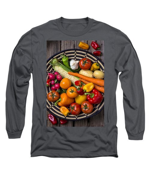 Vegetable Basket    Long Sleeve T-Shirt by Garry Gay