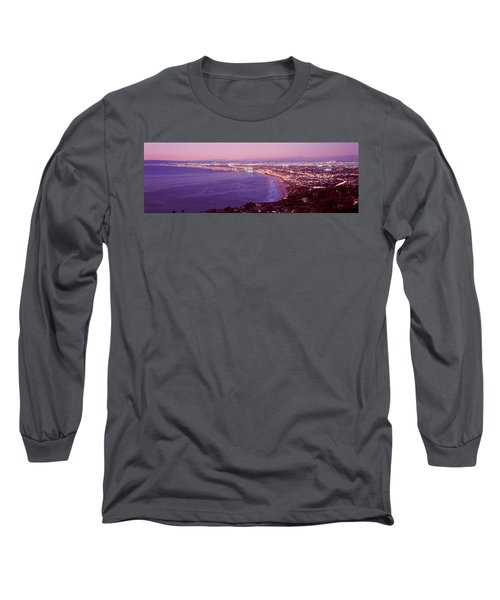 View Of Los Angeles Downtown Long Sleeve T-Shirt by Panoramic Images