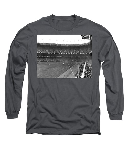 View Of Yankee Stadium Long Sleeve T-Shirt by Underwood Archives