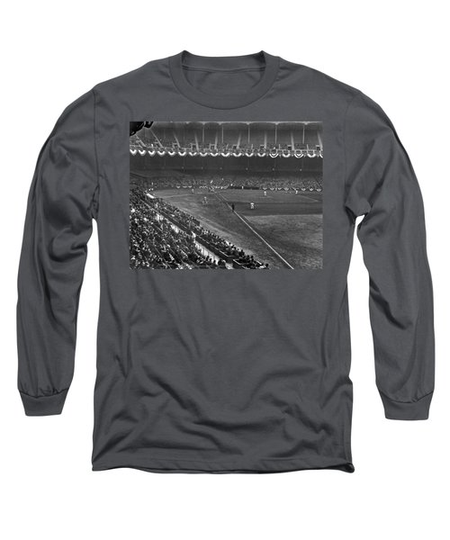 Yankee Stadium Game Long Sleeve T-Shirt by Underwood Archives