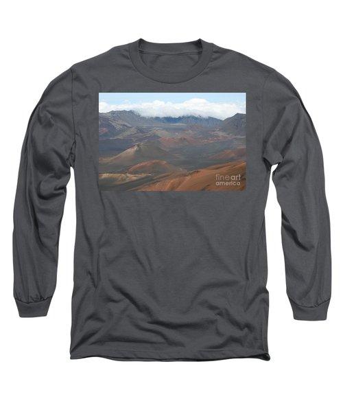 Haleakala Volcano Maui Hawaii Long Sleeve T-Shirt by Sharon Mau