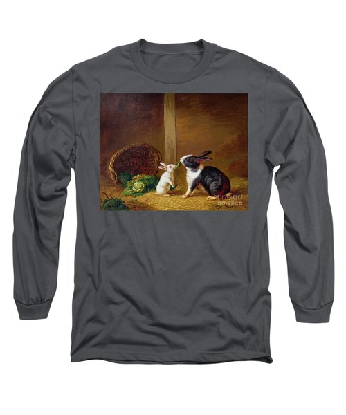 Two Rabbits Long Sleeve T-Shirt by H Baert