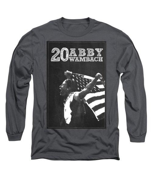 Abby Wambach Long Sleeve T-Shirt by Semih Yurdabak