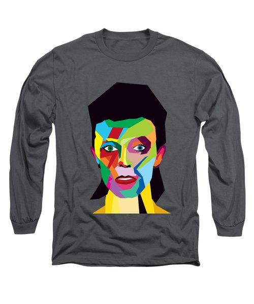 David Bowie Long Sleeve T-Shirt by Mark Ashkenazi