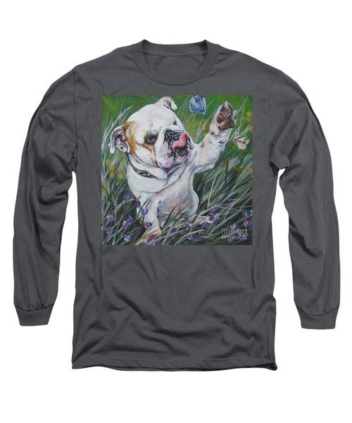 English Bulldog Long Sleeve T-Shirt by Lee Ann Shepard