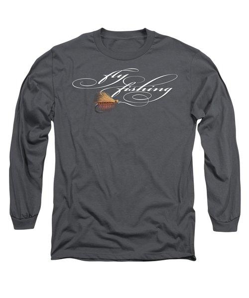 Fly Fishing Elk Hair Caddis Long Sleeve T-Shirt by Rob Corsetti
