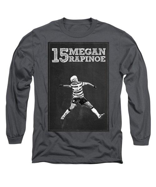 Megan Rapinoe Long Sleeve T-Shirt by Semih Yurdabak