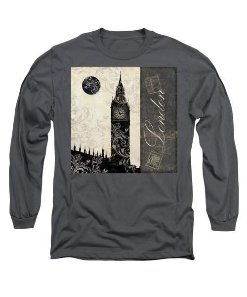 Moon Over London Long Sleeve T-Shirt by Mindy Sommers