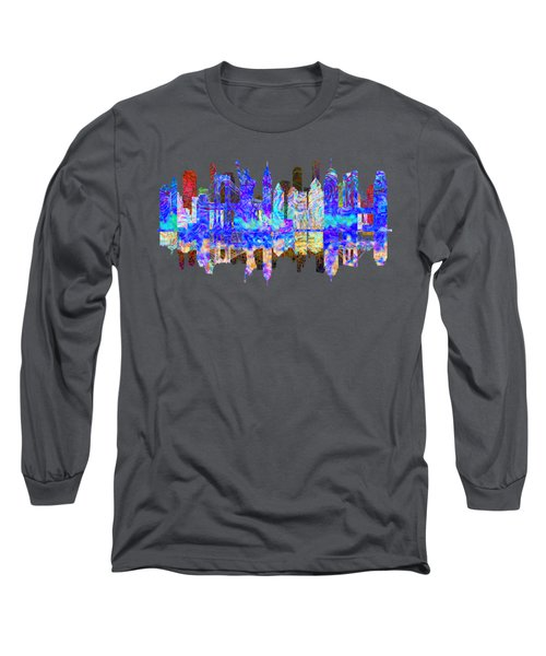 New York Skyline Long Sleeve T-Shirt by John Groves