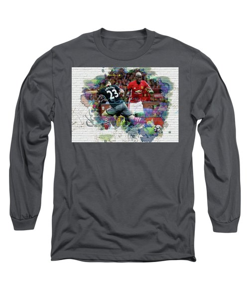 Pogba Street Art Long Sleeve T-Shirt by Don Kuing