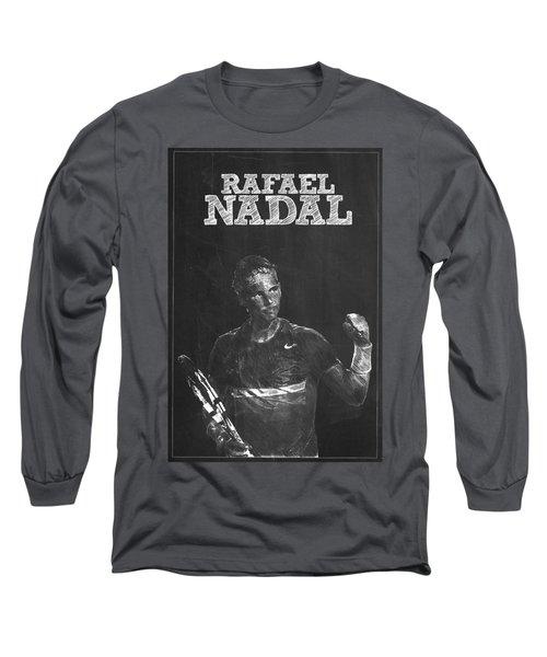 Rafael Nadal Long Sleeve T-Shirt by Semih Yurdabak