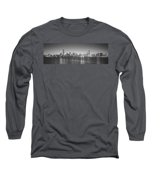 Skyscrapers At The Waterfront, Hancock Long Sleeve T-Shirt by Panoramic Images