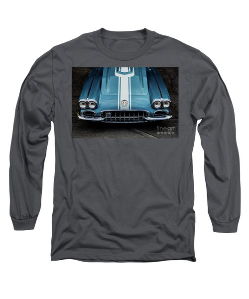 Long Sleeve T-Shirt featuring the photograph 1960 Corvette by M G Whittingham