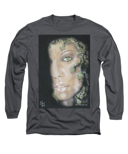 1st Medusa Long Sleeve T-Shirt by John Sodja