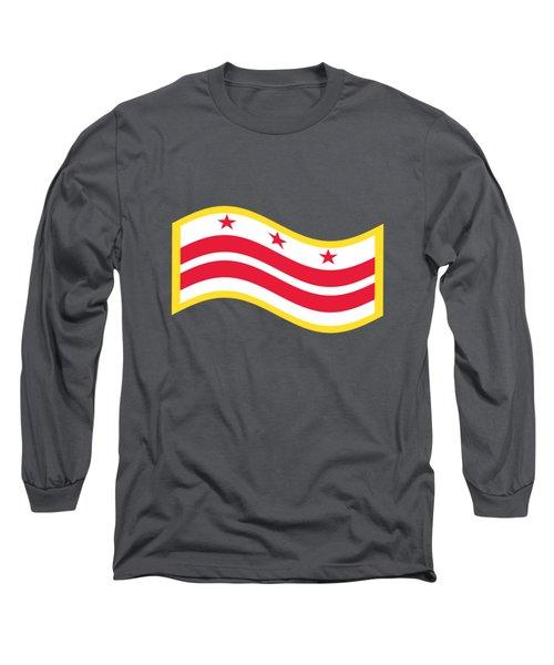 Washington, D.c. Flag Long Sleeve T-Shirt by Frederick Holiday