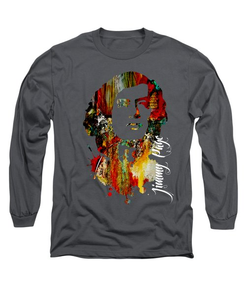 Jimmy Page Collection Long Sleeve T-Shirt by Marvin Blaine