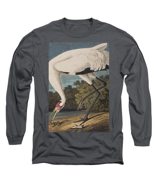 Whooping Crane Long Sleeve T-Shirt by John James Audubon