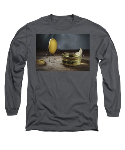 Simple Things - Potatoes Long Sleeve T-Shirt by Nailia Schwarz