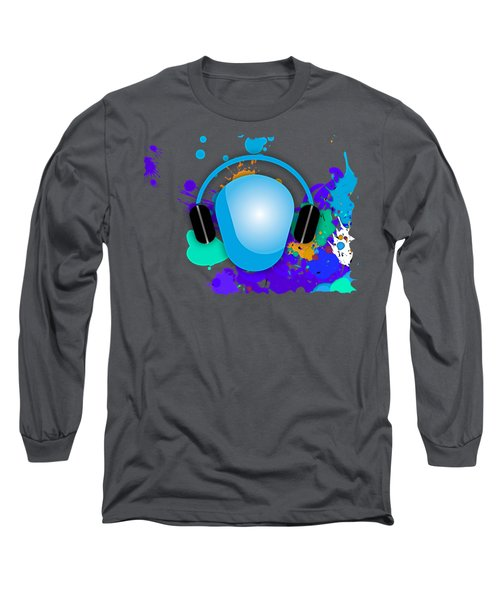 Music Long Sleeve T-Shirt by Marvin Blaine