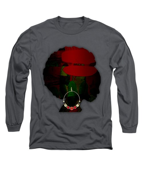 African Beauty Long Sleeve T-Shirt by Marvin Blaine