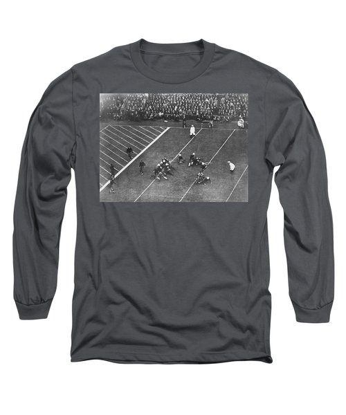 Albie Booth Kick Beats Harvard Long Sleeve T-Shirt by Underwood Archives