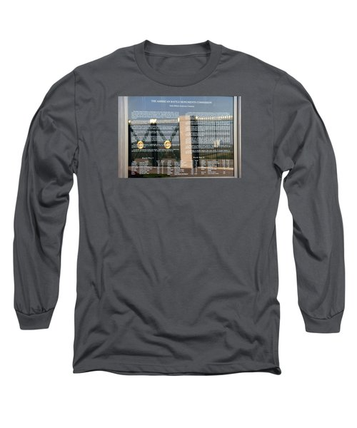Long Sleeve T-Shirt featuring the photograph American Battle Monuments Commission by Travel Pics
