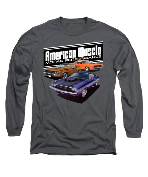 American Mopar Muscle Long Sleeve T-Shirt by Paul Kuras