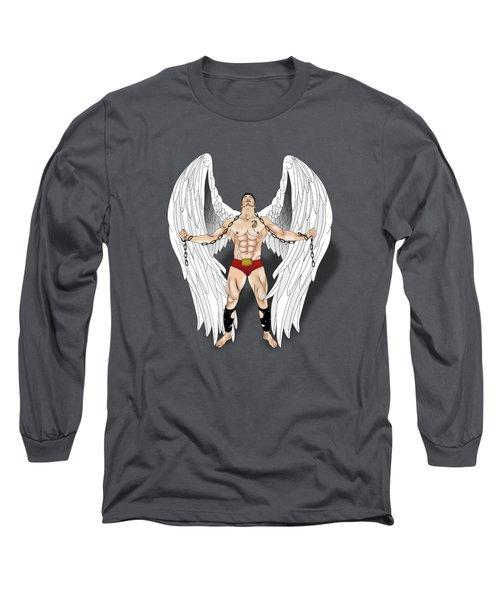 Angel Love 2  Long Sleeve T-Shirt by Mark Ashkenazi