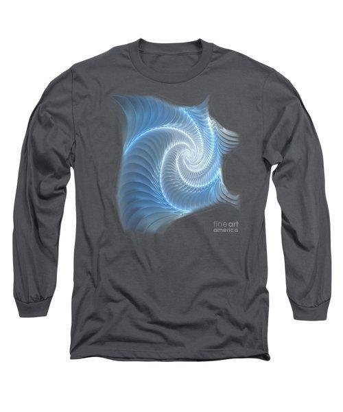 Glowing Spiral Long Sleeve T-Shirt by Anastasiya Malakhova