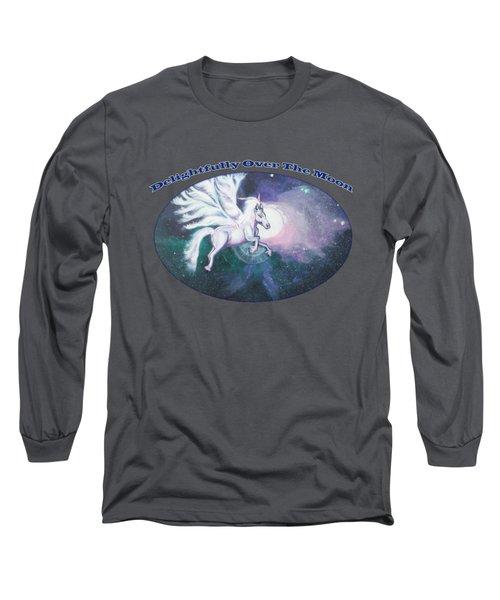 Unicorn And The Universe Long Sleeve T-Shirt by Artist Nandika  Dutt