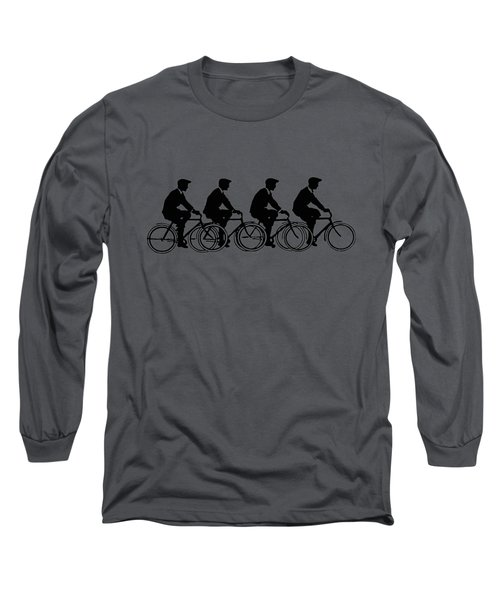 Bicycling T Shirt Design Long Sleeve T-Shirt by Bellesouth Studio