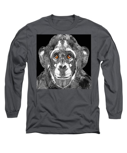 Black And White Art - Monkey Business 2 - By Sharon Cummings Long Sleeve T-Shirt by Sharon Cummings