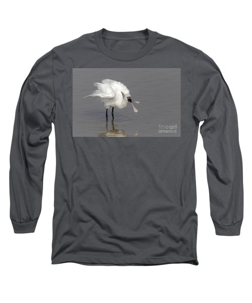 Black-faced Spoonbill Long Sleeve T-Shirt by Martin Hale/FLPA