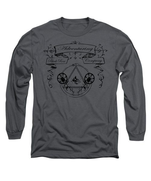 Black Rose Adventuring Co. Long Sleeve T-Shirt by Nyghtcore Studio