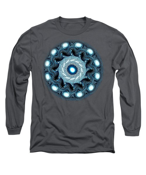Blue Circle Long Sleeve T-Shirt by Anastasiya Malakhova