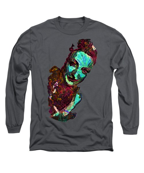 Blueberry Dripping Lean To Tease Long Sleeve T-Shirt by John Groves