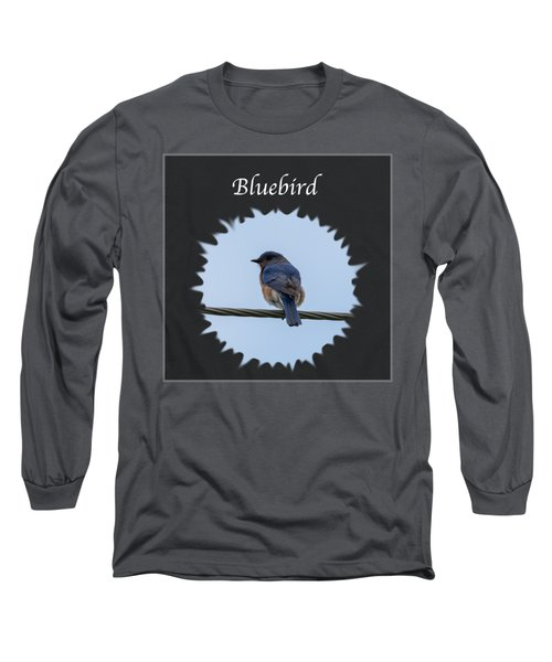 Bluebird Long Sleeve T-Shirt by Jan M Holden