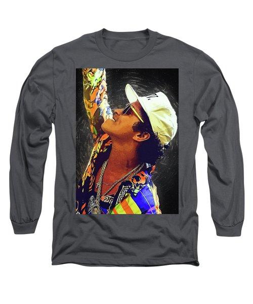 Bruno Mars Long Sleeve T-Shirt by Semih Yurdabak