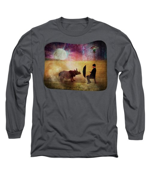 By The Light Of The Moon Long Sleeve T-Shirt by Terry Fleckney