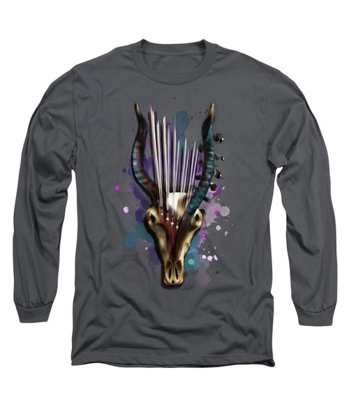 Capricorn Long Sleeve T-Shirt by Melanie D