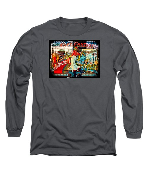 Captain Fantastic - Pinball Long Sleeve T-Shirt by Colleen Kammerer