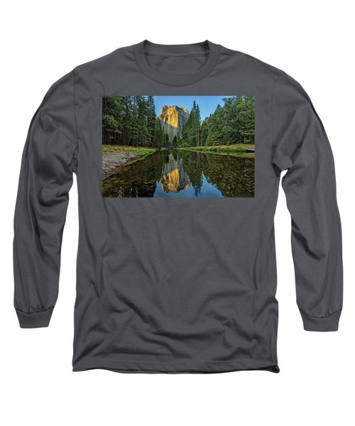 Cathedral Rocks Morning Long Sleeve T-Shirt by Peter Tellone