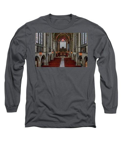 Chicago Rockefeller Chapel Long Sleeve T-Shirt by Mike Burgquist
