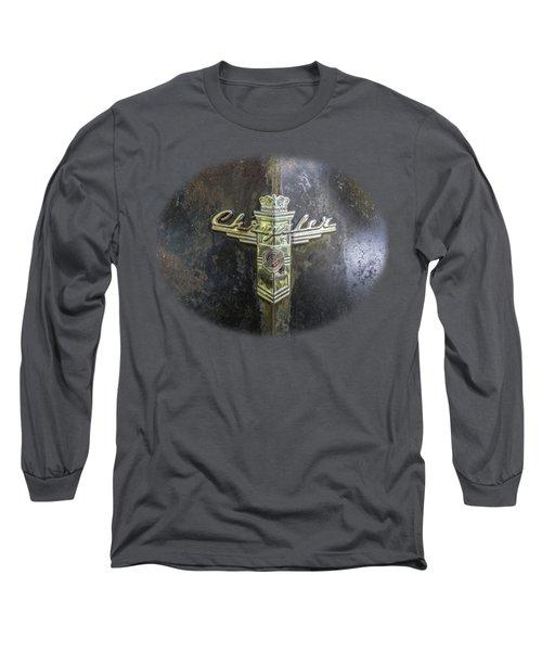Chrysler Hood Ornament Long Sleeve T-Shirt by Debra and Dave Vanderlaan