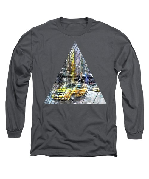 City-art Nyc Collage Long Sleeve T-Shirt by Melanie Viola