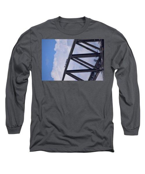 Climbers On Sydney Harbour Bridge Long Sleeve T-Shirt by Sandy Taylor