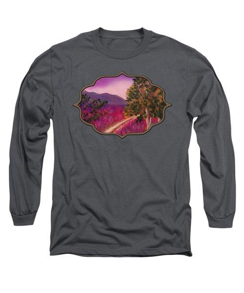 Color It Purple Long Sleeve T-Shirt by Anastasiya Malakhova