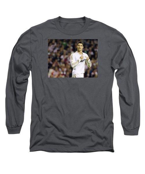Cristiano Ronaldo 4 Long Sleeve T-Shirt by Rafa Rivas