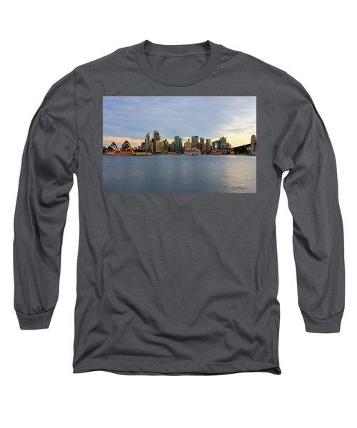 Cruiseship Sunset Long Sleeve T-Shirt by Petar Belobrajdic