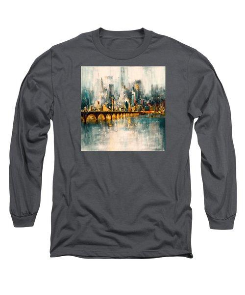 Dallas Skyline 217 3 Long Sleeve T-Shirt by Mawra Tahreem